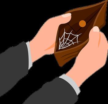 Money, Poor, Coin, Wallet, Spider Web, Empty