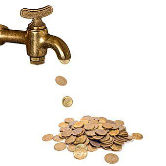Faucet, Coins, Money, Gold, Savings, Investment