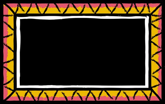 Frame, Border, Doodle, Copy-space, Colorful, Decoration