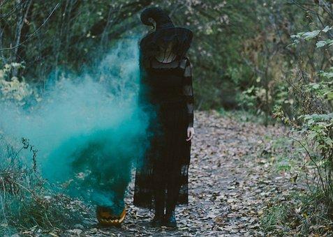 Pumpkin, Witch, Smoke, Costume, Witch Costume