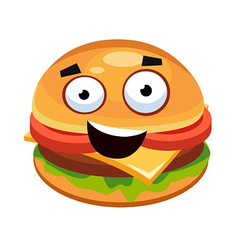 Hamburger, Burger, Smile, Fast Food, Sandwich, Food