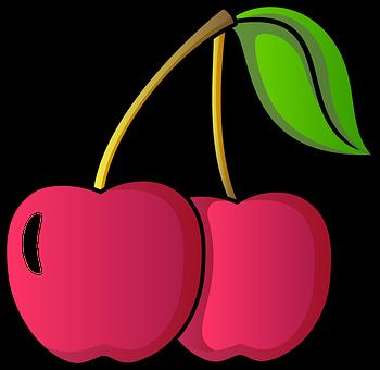 Cherries, Fruits, Nature, Icon