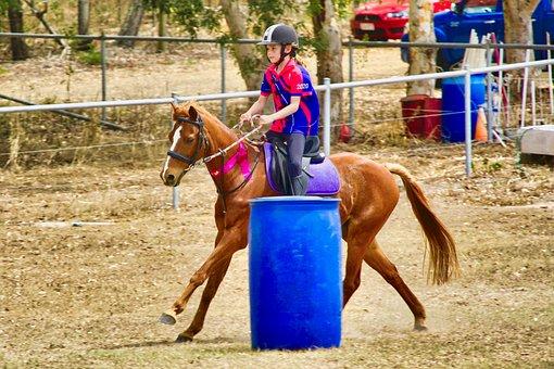 Equestrian, Girl, Horse, Race, Jockey, Saddle