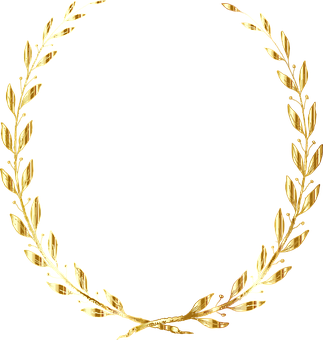 Laurel, Wreath, Line Art, Decorative, Decoration
