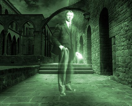 Ghost, Man, Vintage Dress Suit, Haunted Castle, Gothic