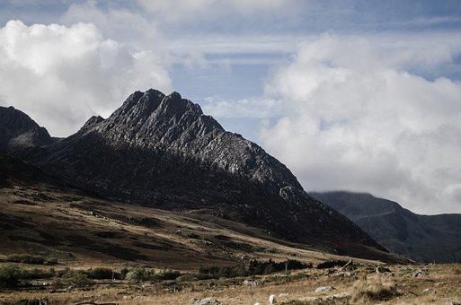 Mountains, Valley, Rocks, Snowdonia, Ogwen, Nature, Uk