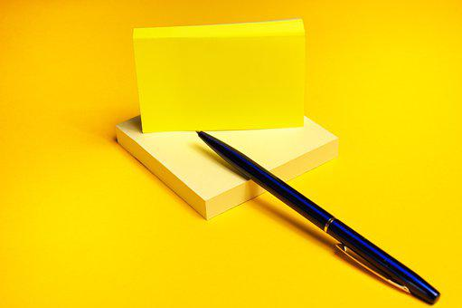 Pen, Note, Pad, Notepad, Stationery, Office
