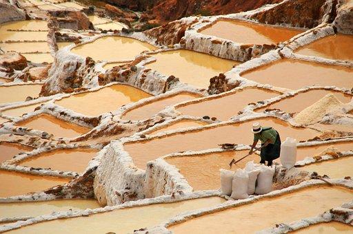 Salinas, Salines, Maras, Peru, Cuzco, Salt