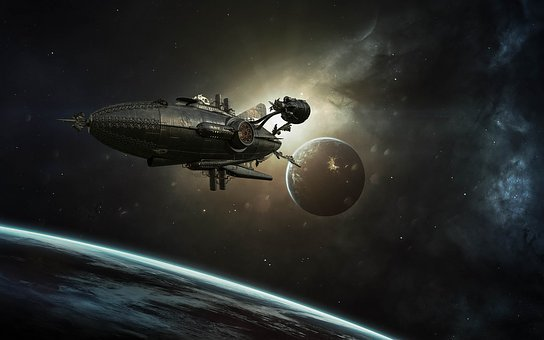 Spaceship, Fantasy, Universe, Steampunk, Planet, Ship