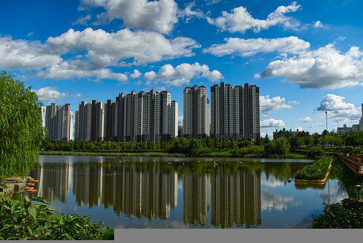 Buildings, River, High-rise, Skyline, Apartments