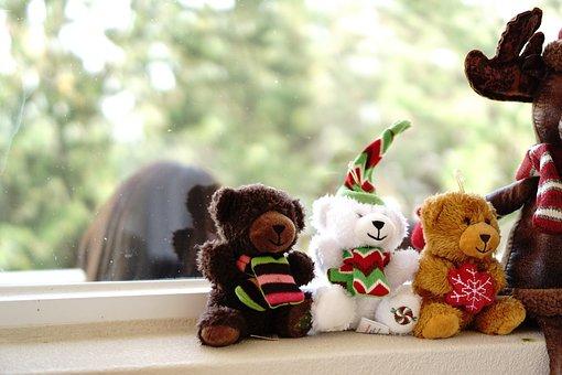 Teddy Bears, Doll, Stuffed Toys, Plush, Toys, Bears