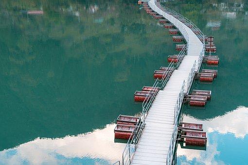 Bridge, River, Water, Reflection, Okutama