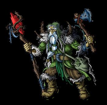 Shaman, Sorcerer, Fantasy, Magician, Old Man, Character