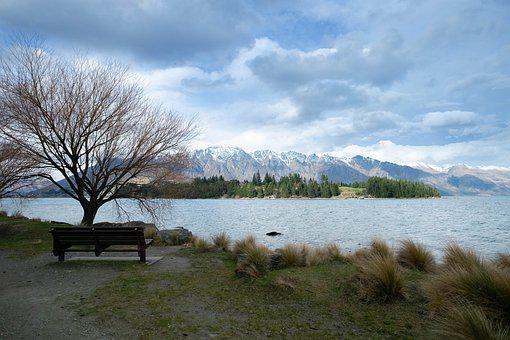 Lake, Park, Coast, Lakeside, Mountains, Scenery