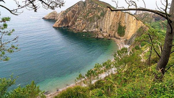 Beach, Coast, Cliff, Sea, Ocean, Water, Coastline