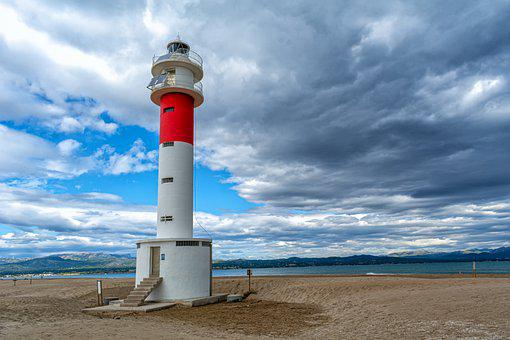 Lighthouse, Coast, Beach, Tower, Sand, Coastline, Shore
