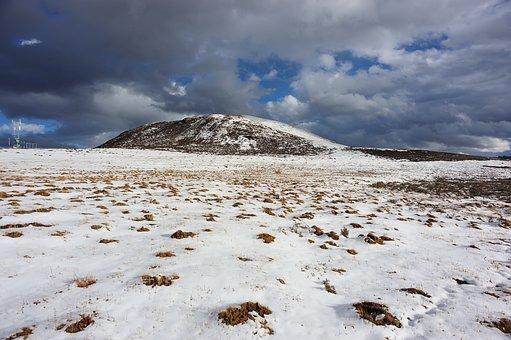 Field, Snow, Hill, Cold, Meadow, Landscape, Scenery
