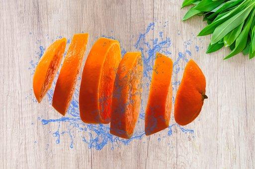 Orange, Fruit, Citrus, Cut, Slice