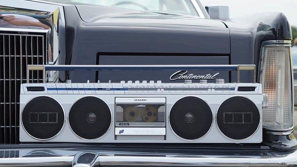 Boombox, Audio, Cassette, Vintage, Ghettoblaster