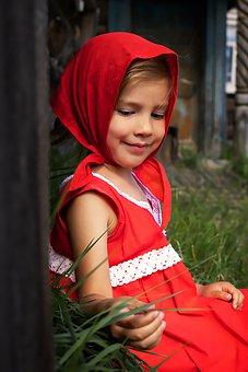 Girl, Little Red Riding Hood, Portrait, Costume