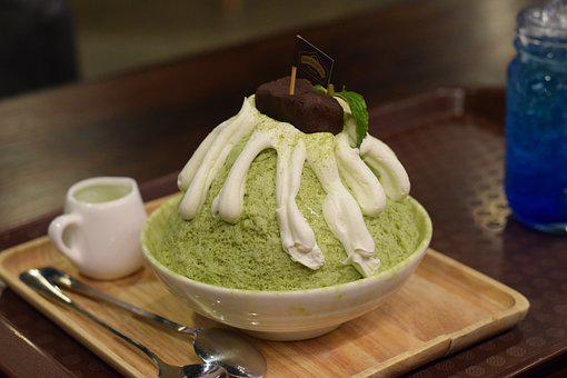Green Tea, Ice Cream, Shaved Ice, Dessert