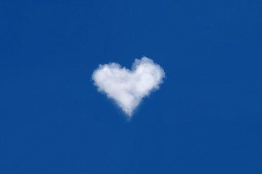 Cloud, Heart, Sky, Love, Atmosphere, Blue Sky