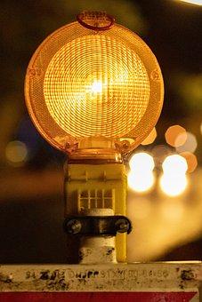 Light, Lamp, Warning Light, Construction Site Light