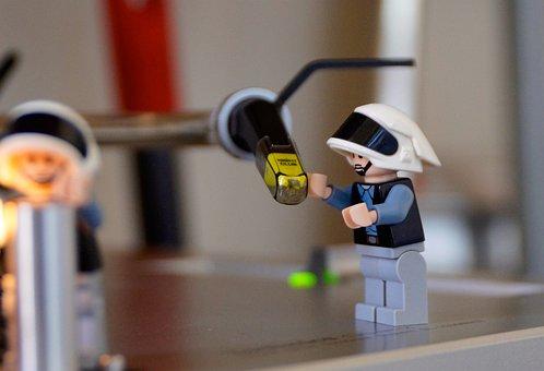 Lego, Figurine, Toy, Miniature, Turntable, Ortofon