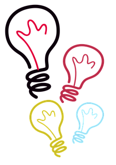 Lightbulbs, Ideas, Solution, Bright, Realize, Think