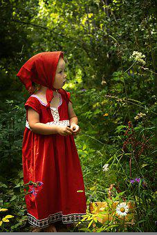 Girl, Little Red Riding Hood, Fairy Tale, Costume