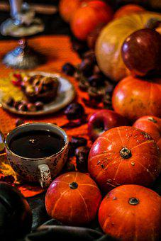 Pumpkins, Apples, Halloween, Party, Harvest, Magic