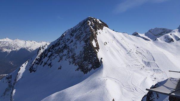 Mountains, Slopes, Snowboard, Krasnaya Polyana, Aibga