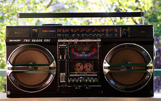 Ghetto Blaster, Boombox, Music, Radio, Audio Player