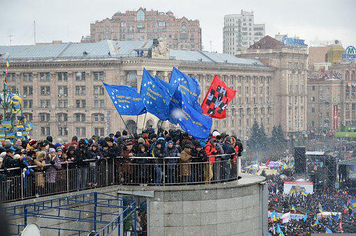 People, Protest, Mass, Demonstration, Ukraine