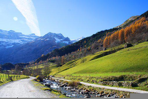 Road, Mountains, Countryside