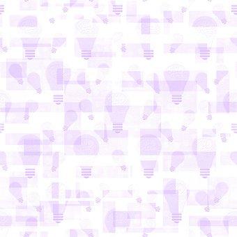 Light Bulbs, Ideas, Pattern, Wisdom, Smart, Seamless