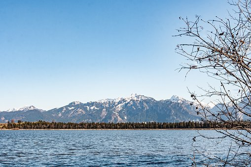 Mountains, Lake, Tree, Forest, Alps, Alpine