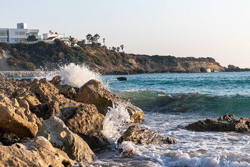 Rocks, Waves, Sea, Boulders, Rock Formations