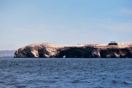 Sea, Cliff, Island, Coast, Coastline, Ocean, Water