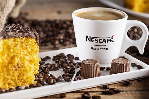 Coffee, Cup, Cake, Chocolate, Composite, Nescafe