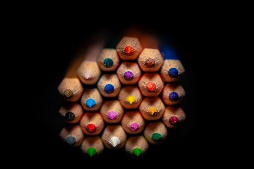 Colored Pencils, Colour Pencils, Colorful, Pens
