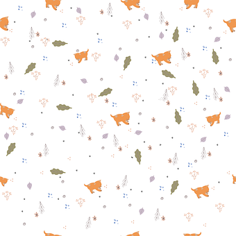 Kittens, Cat, Felines, Pattern, Autumn, Sheet, Grass