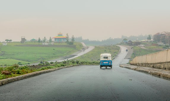 Tricycle, Road, Hills, Wet Road, Street, Lane, Pavement
