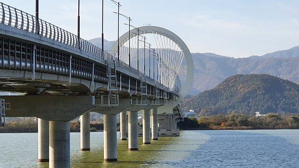 Bridge, River, Countryside, Structure, Road Bridge