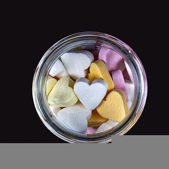 Hearts, Candies, Food, Sweets, Treat, Confectionery