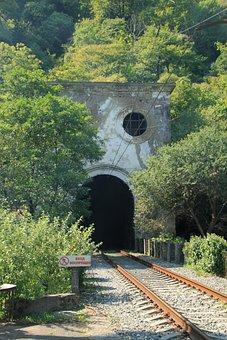 Tunnel, Railway, Tracks, Train Tracks, Railroad, Trees