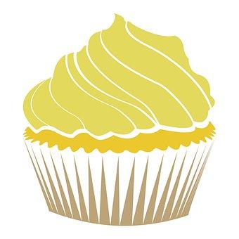 Cupcake, Icon, Logo, Design, Vanilla Cupcake, Dessert