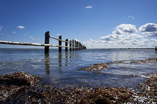 Sea, Coast, Wave Breaker, Wooden Wave Breaker, Ocean