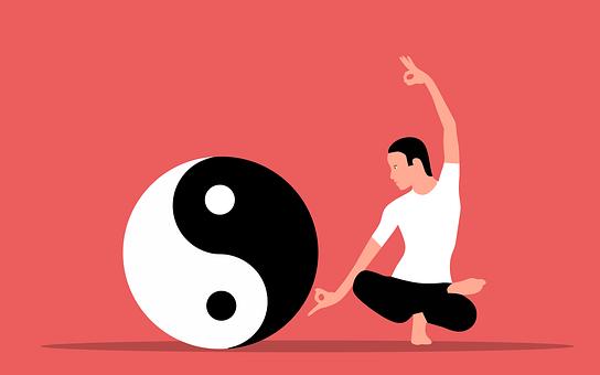 Yin And Yang, Yoga, Balance, Man, Zen, Meditate