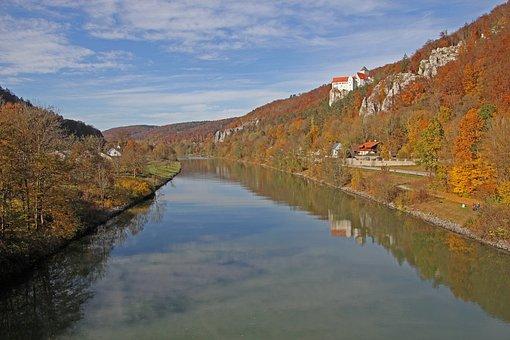 River, Valley, Autumn, Altmühl, Altmühl Valley, Water